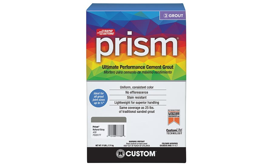 Custom® Building Products' Prism® Ultimate Performance Cement Grout