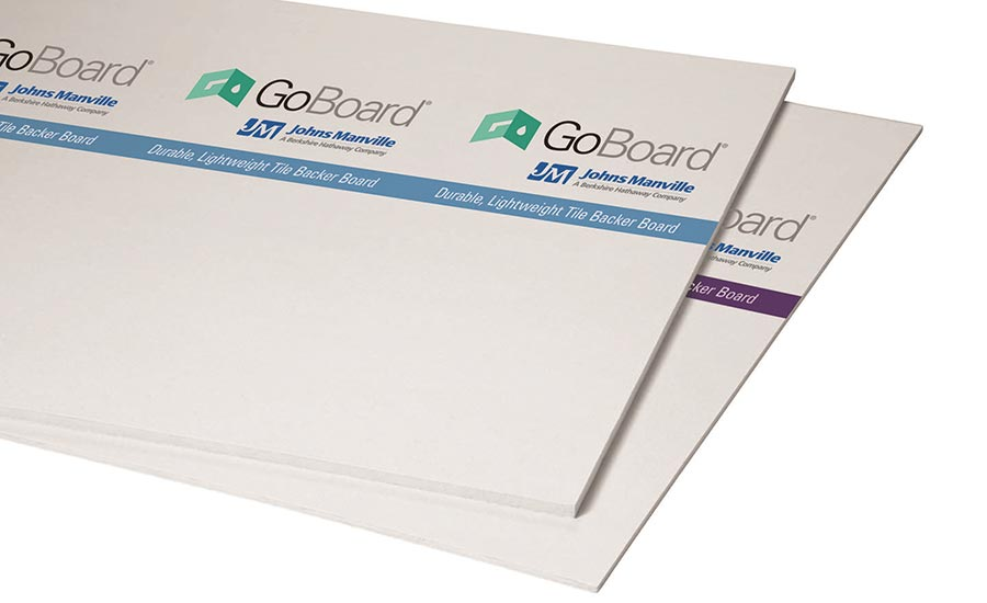 GoBoard® tile backer board, by Johns Manville