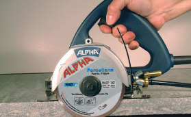 The Alpha® AWS-110 Wet Stone and Tile Cutter