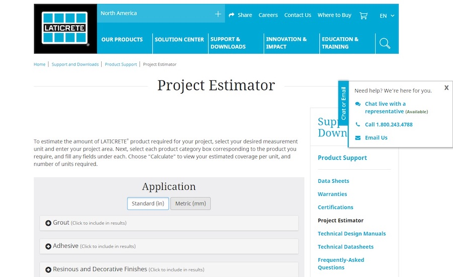 Laticrete Estimator