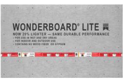 WonderBoard® backerboard lighter