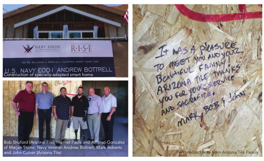 Arizona Tile Donates to Gary Sinise R I S E  Smart Home Project