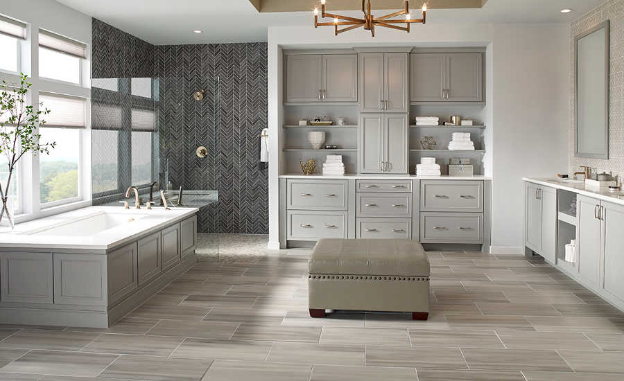 Amazing Popular Tile Flooring 2017 Part - 12: MSIu0027s Watercolor Collection In Grigio (floor) And Graphite (shower).