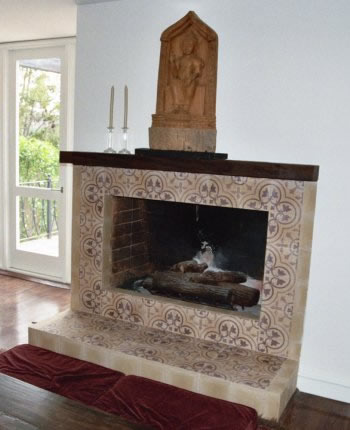 Tile Fireplaces Design Ideas faux corner fireplace tile surround Cement Tile Fireplace Ideas