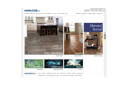 Marazzi Website Features New Face And Functionality - American marazzi tile sunnyvale tx