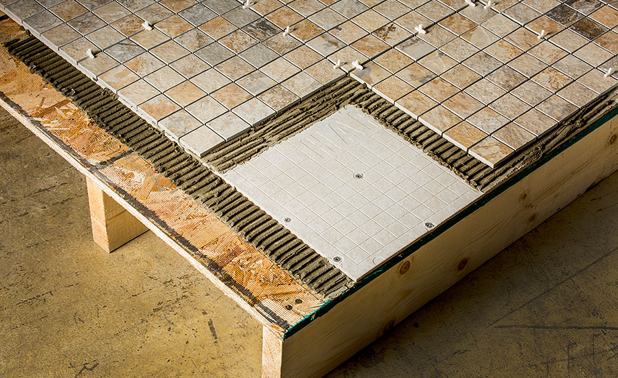 cement board for bathroom floor tile installers select hardiebacker 174 cement board as most 22864
