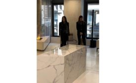 Guilia Bucci of Fiandre and Federica Minozzi of Iris Ceramica Group