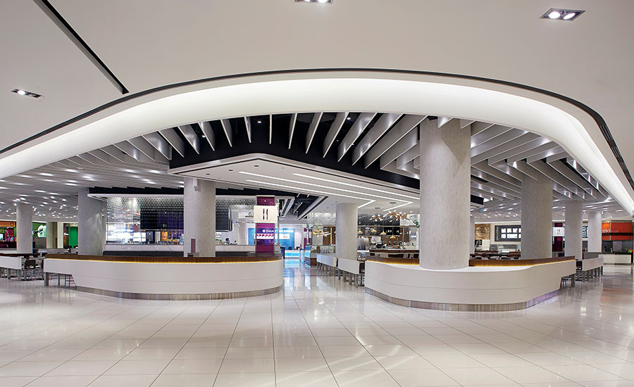 For the major renovation and expansion of the Rideau Centre in ...
