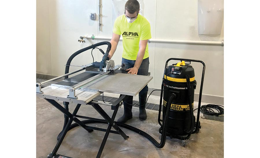The Alpha® ECC-Kit dry tile cutting system