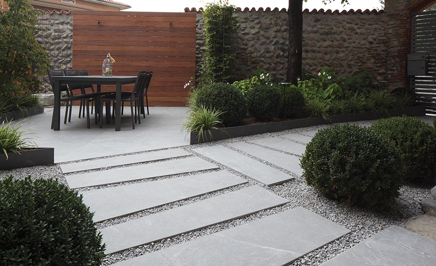 Outdoor living made easy with weather-proof porcelain