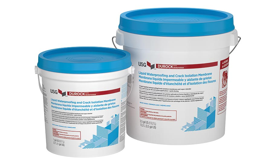 USG Durock Brand Liquid Waterproofing and Crack Isolation Membrane