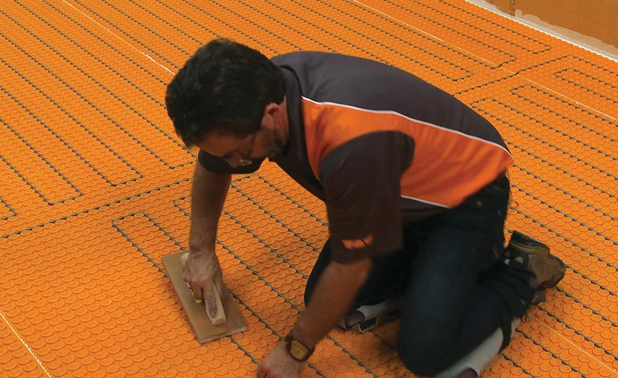 Ditra-Heat-Duo uncoupling membrane from Schluter-Systems