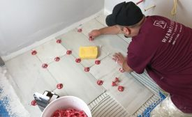 WarmlyYours Radiant Heat tile installation