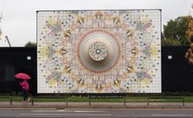 porcelain tile mural on Greenwich Peninsula