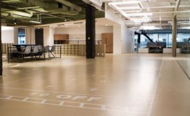 USG Corporation's underlayment and self-leveling, polishable wear topping products