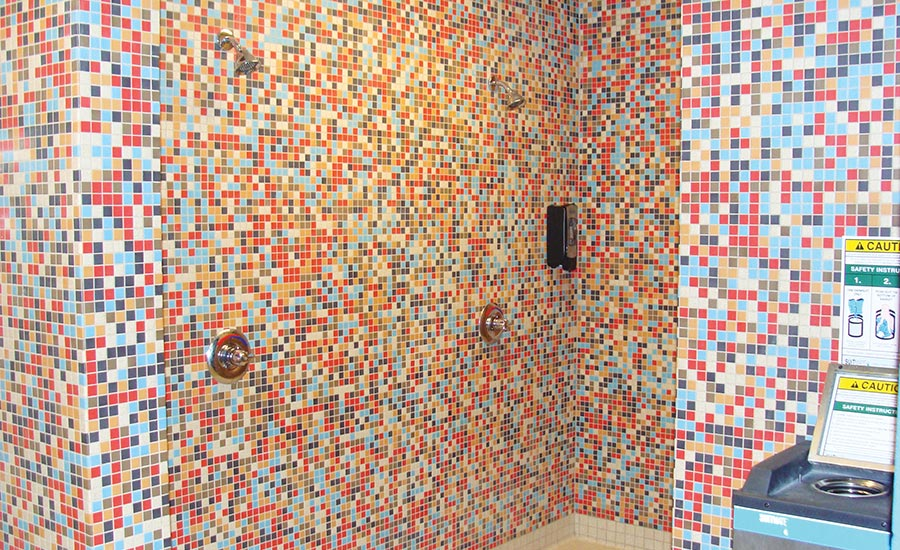 American Olean's Unglazed ColorBody Porcelain Mosaics series