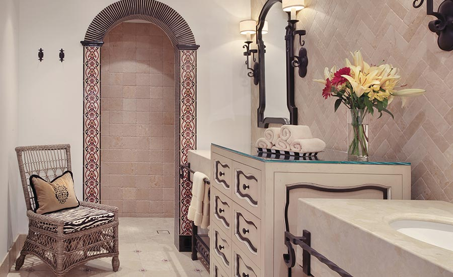 master bathroom's shower