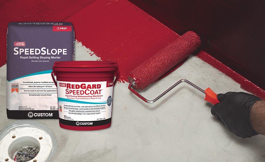 Custom Building Products Speedslope And Redgard Speedcoat 2019 09 01 Tile Magazine
