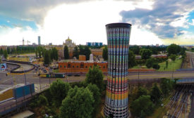The Torre Arcobaleno, the Rainbow Tower