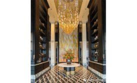The Nanjing Suning Zhongshan International Golf Hotel hall entrance. Photos courtesy of Sicis.