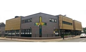 Ceramic Facade Created for St. John Catholic Primary School in London